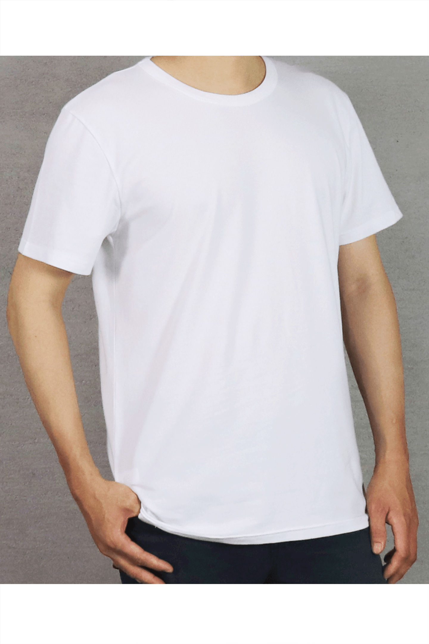 白色素面短T / 40支棉 舒適透氣
