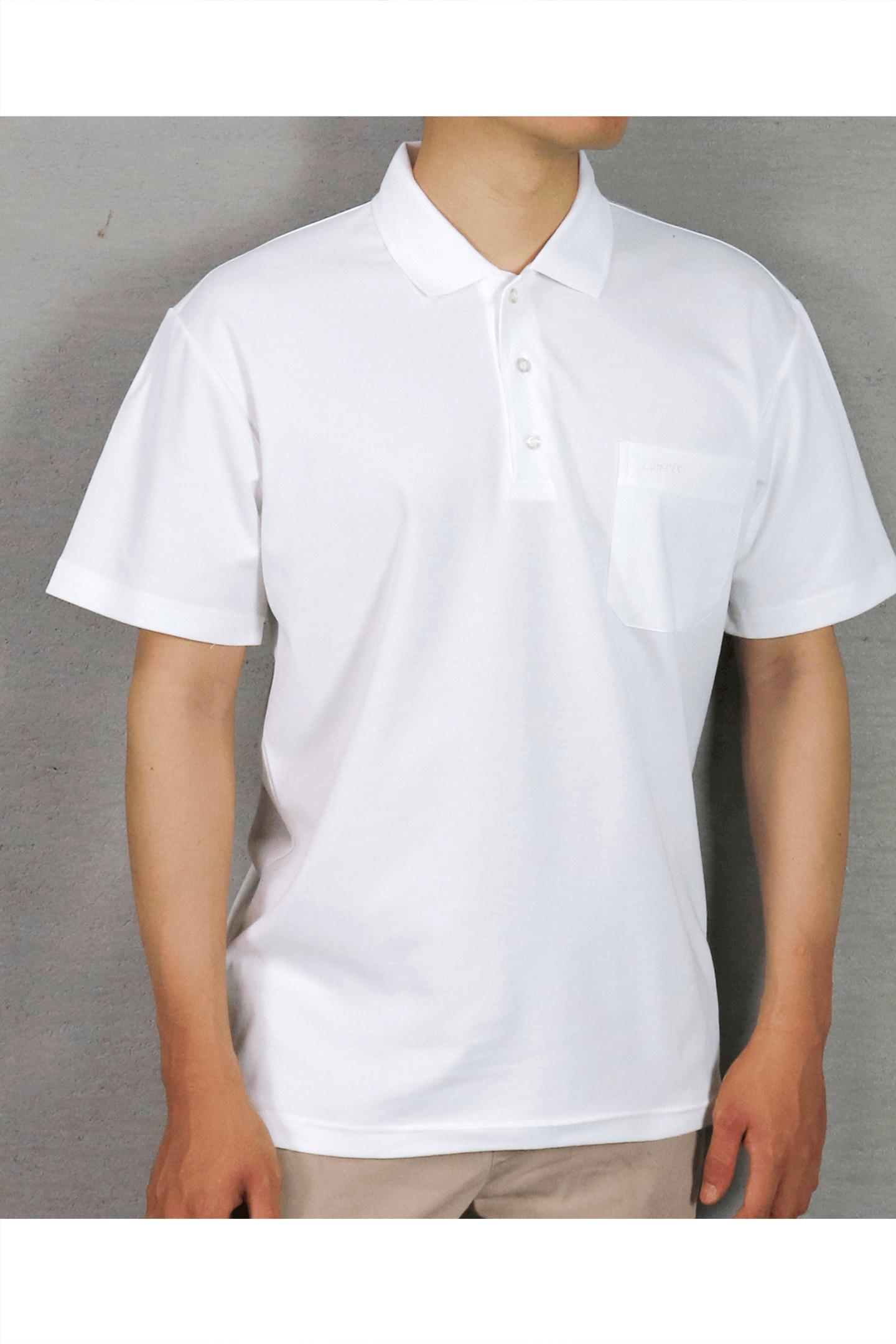 白素面短袖POLO衫/吸濕排汗 速乾
